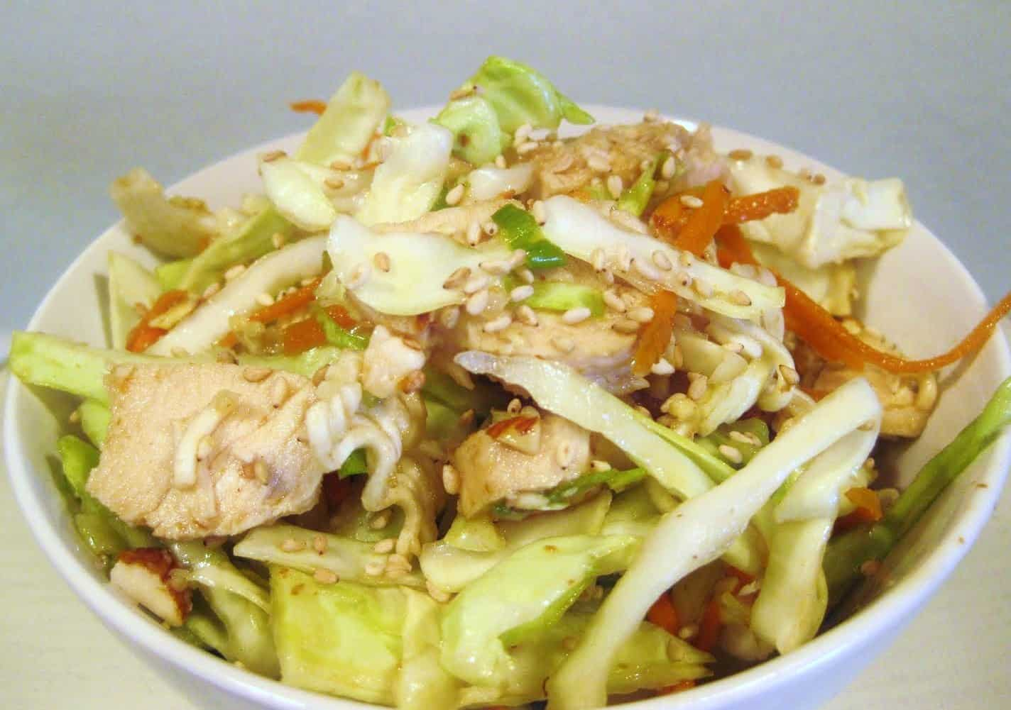 Chinese Chicken Cabbage Salad | Created by Diane