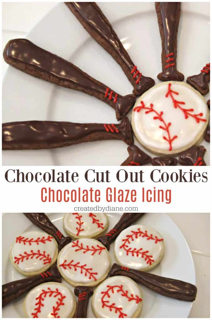 chocolate cut out cookies with chocolate glaze icing recipes createdbydiane.com