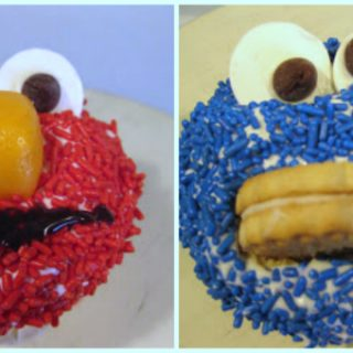 sesame street cupcakes cookie monster elmo