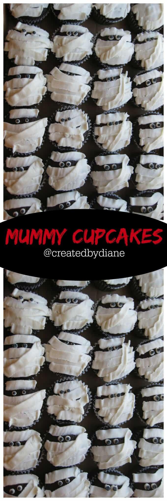 mummy cupcakes for Halloween @createdbydiane