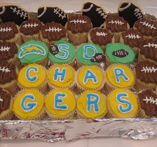 Football Cupcakes and Cookies