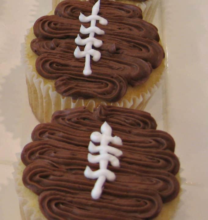 football cupcakes www.createdbydiane.com