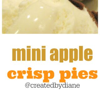 mini apple crisp pies @createdbydiane