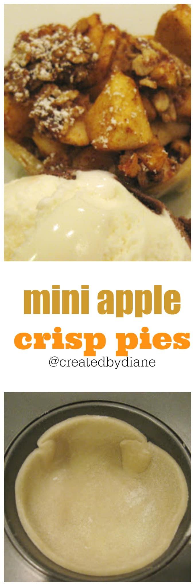 mini apple crisp pies @createdbydiane