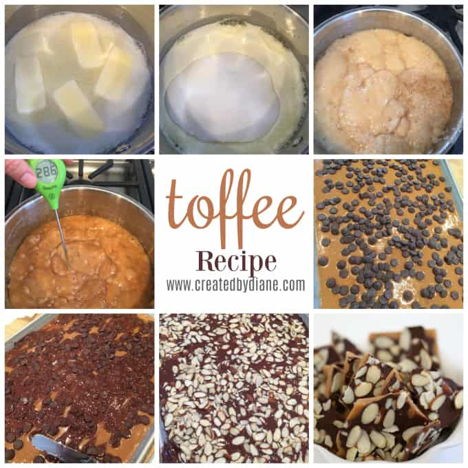 how to make toffee www.createdbydiane.com
