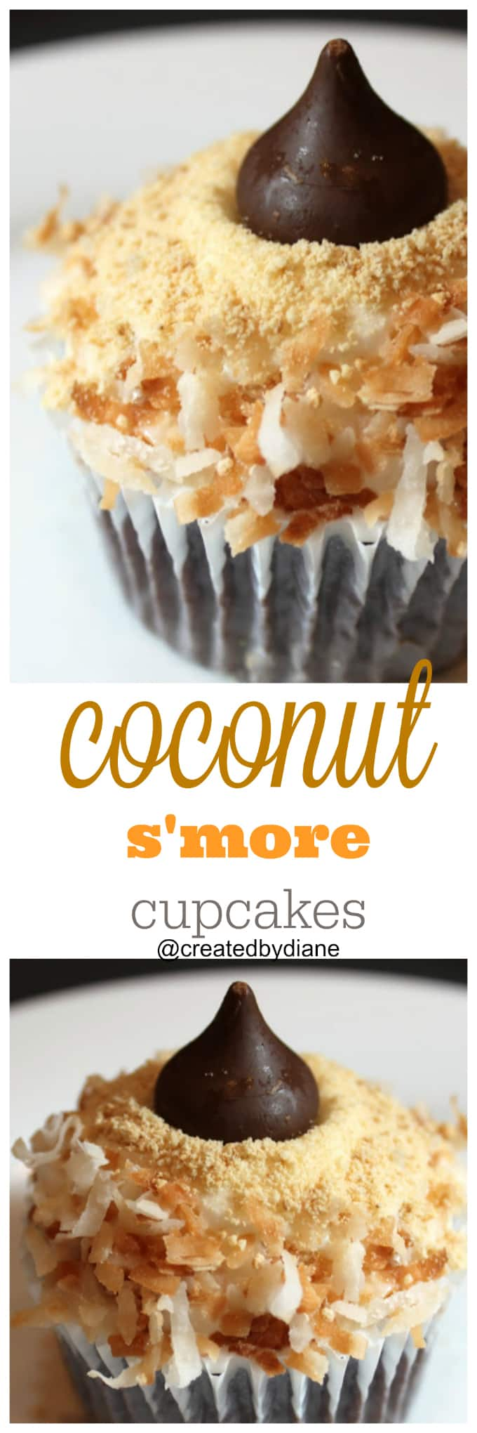 coconut s'more cupcakes @createdbydiane