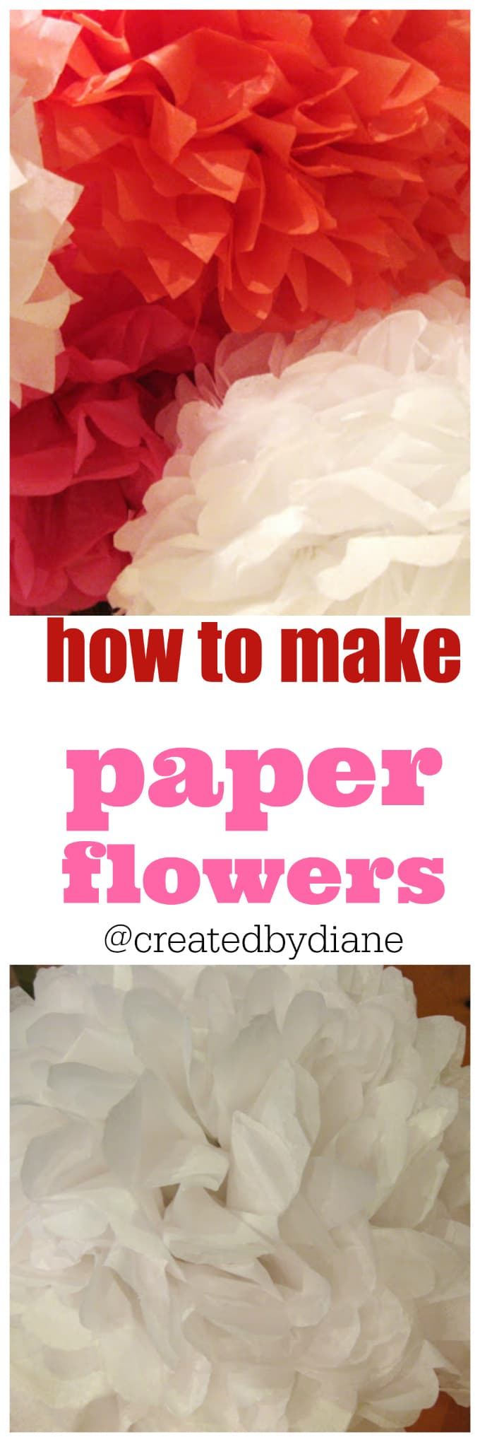 how to make paper flowers from @createdbydiane
