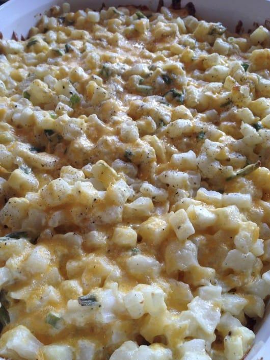 Cheesy Baked Potato Casserole @createdbydiane