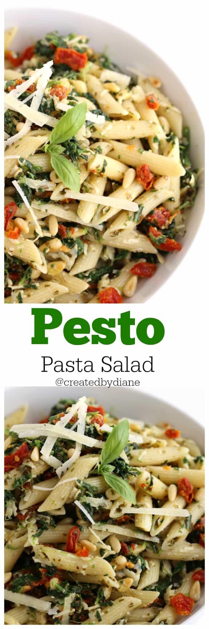 pesto pasta salad @createdbydiane
