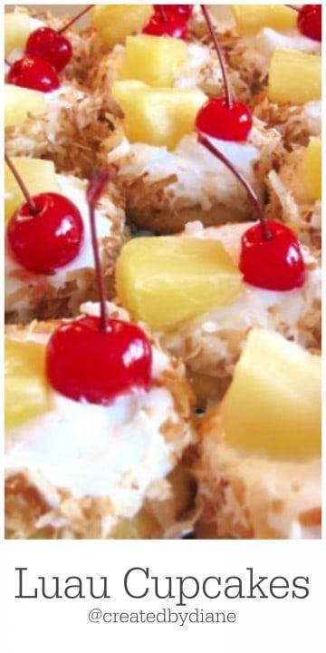 Luau Cupcakes @createedbydiane