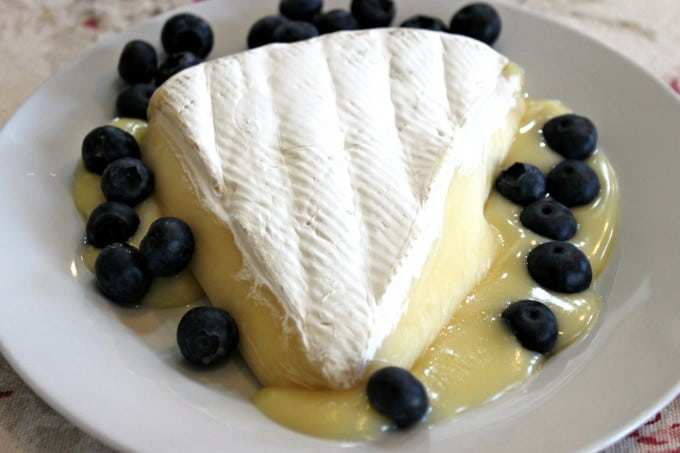 brie and blueberries