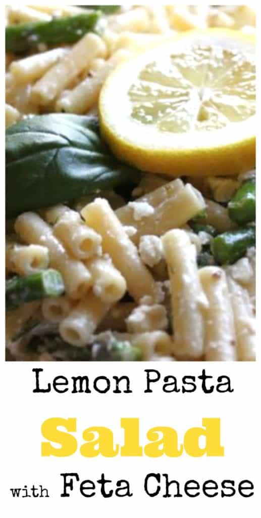 lemon pasta salad feta cheese createdbydiane.com