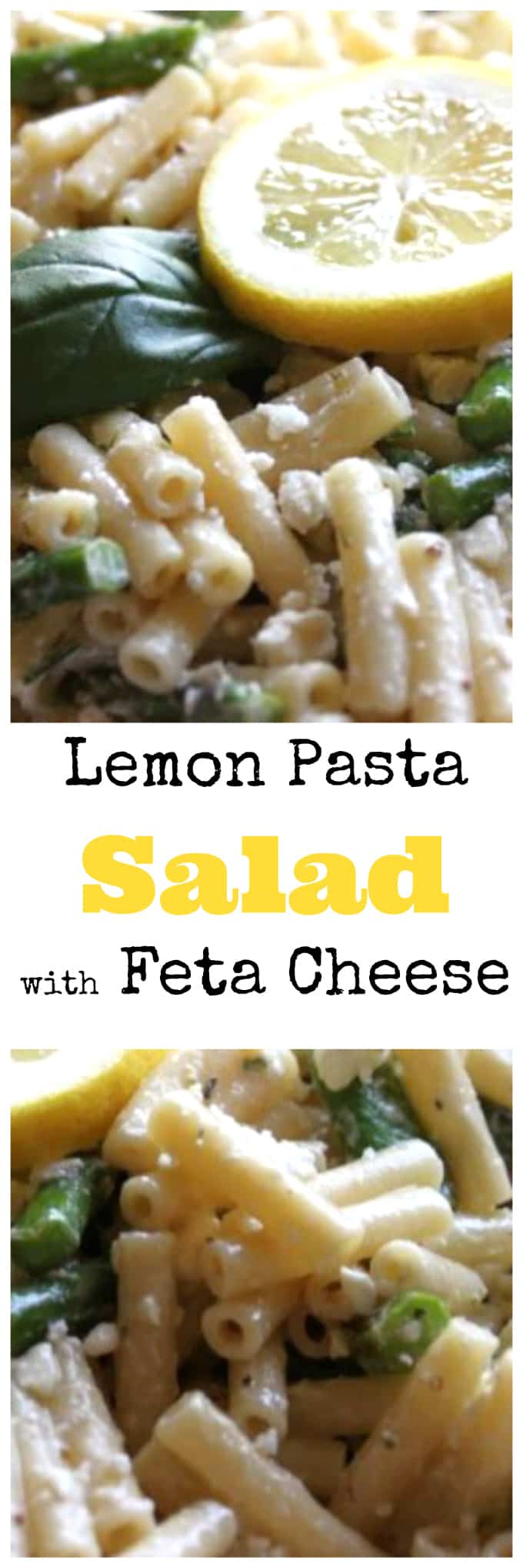 lemon pasta salad with feta cheese @createdbydiane