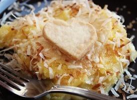 pineapple coconut cobbler