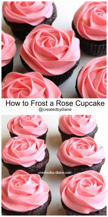 How To Frost A Rose On A Cupcake Video Created By Diane
