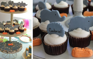 baby shower elephant-cupcakes