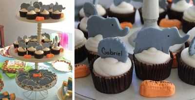 baby shower elephant-cupcakes
