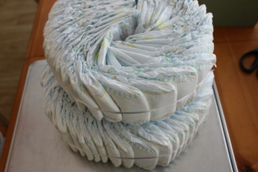 tier two on diaper cake