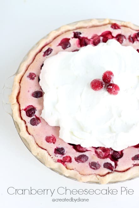 Cranberry Cheesecake Pie @createdbydiane