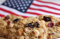 red white blue oatmeal cookies