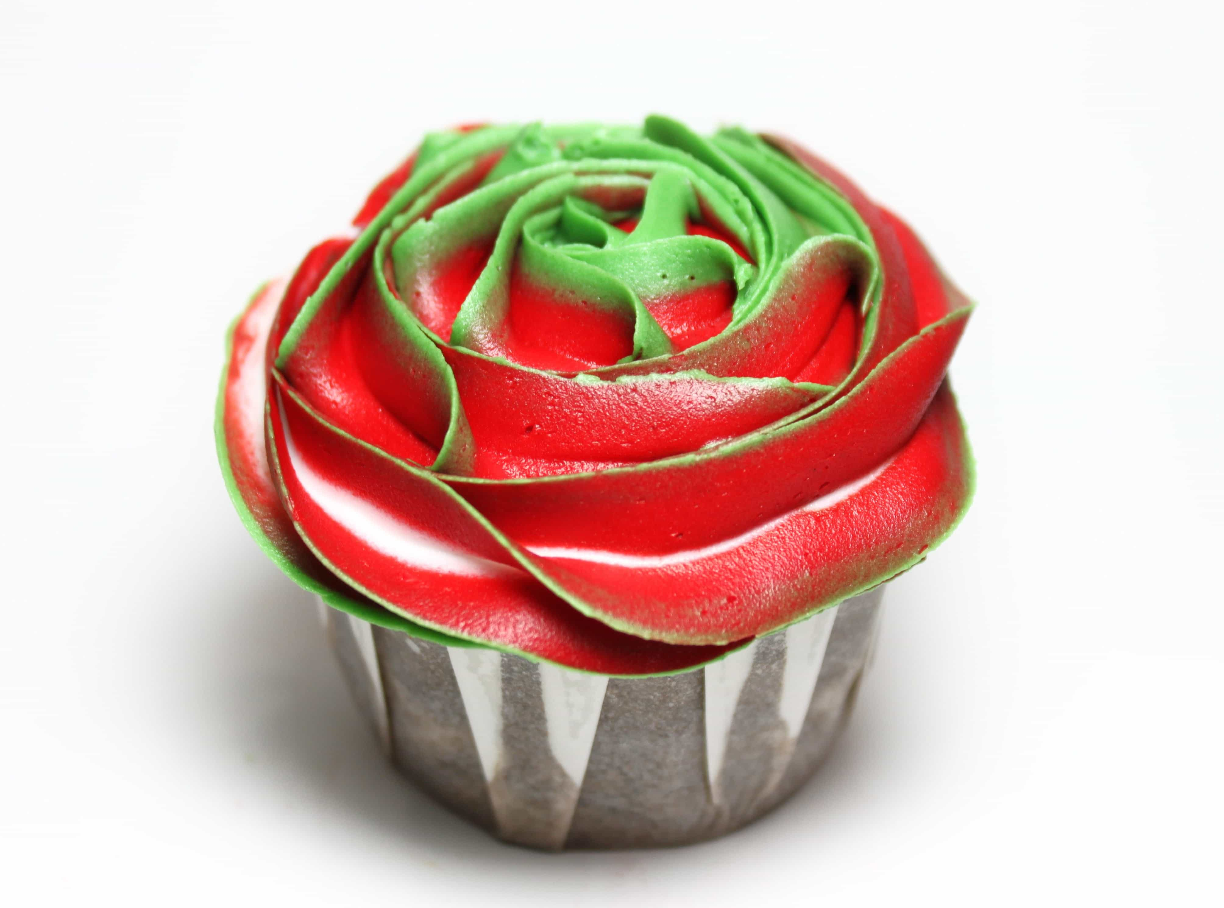 Christmas Rose Cupcake