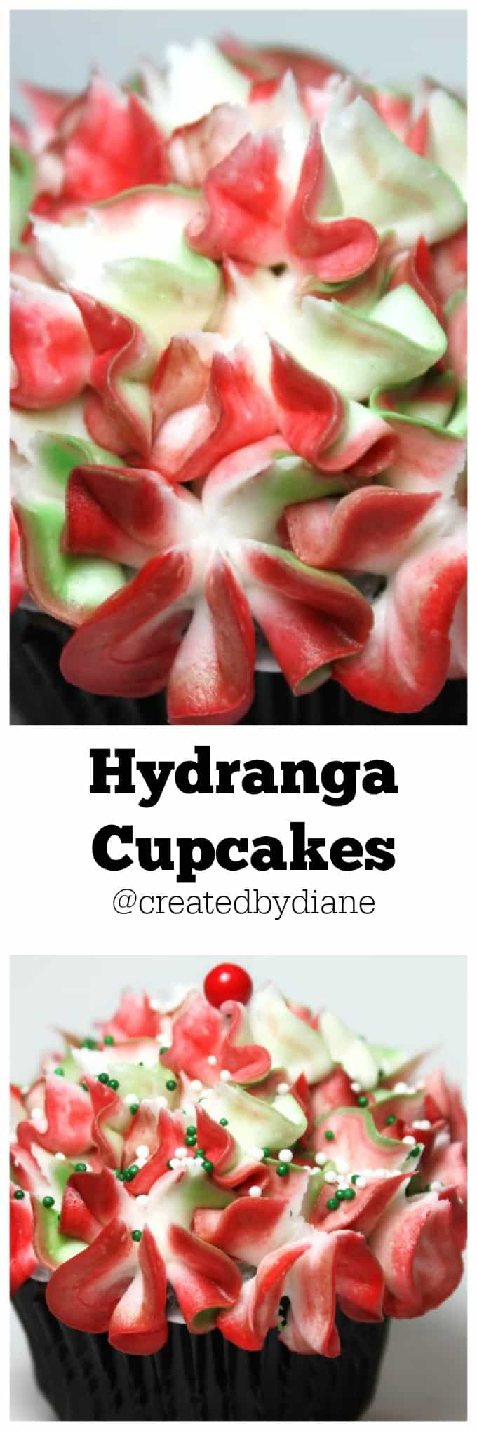 Hydranga cupcakes @createdbydiane