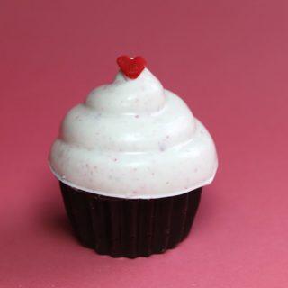 Mini Peppermint Bark Cupcakes