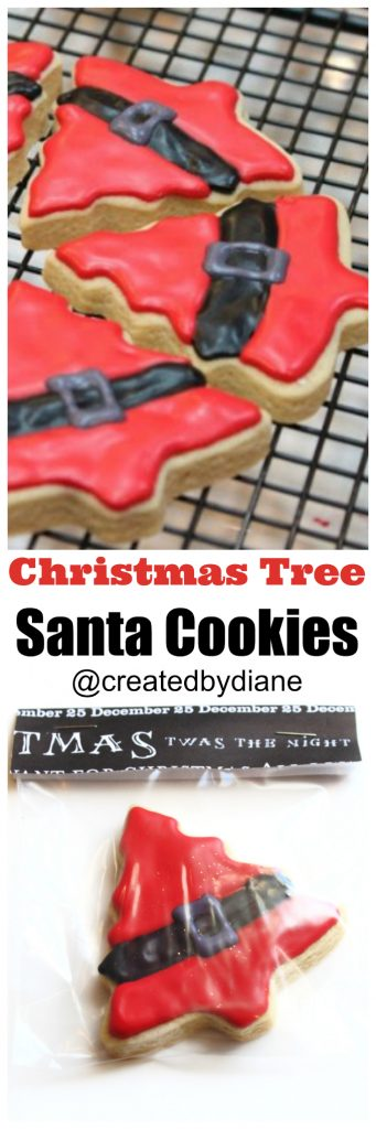 santa-christmas-tree-cookies-createdbydiane-iced-cookies-christmas-cookies-red-icing