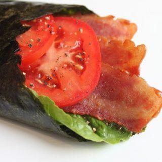 bacon, lettuce, tomato sushi