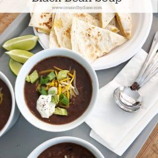 black bean soup recipe www.createdbydiane.com