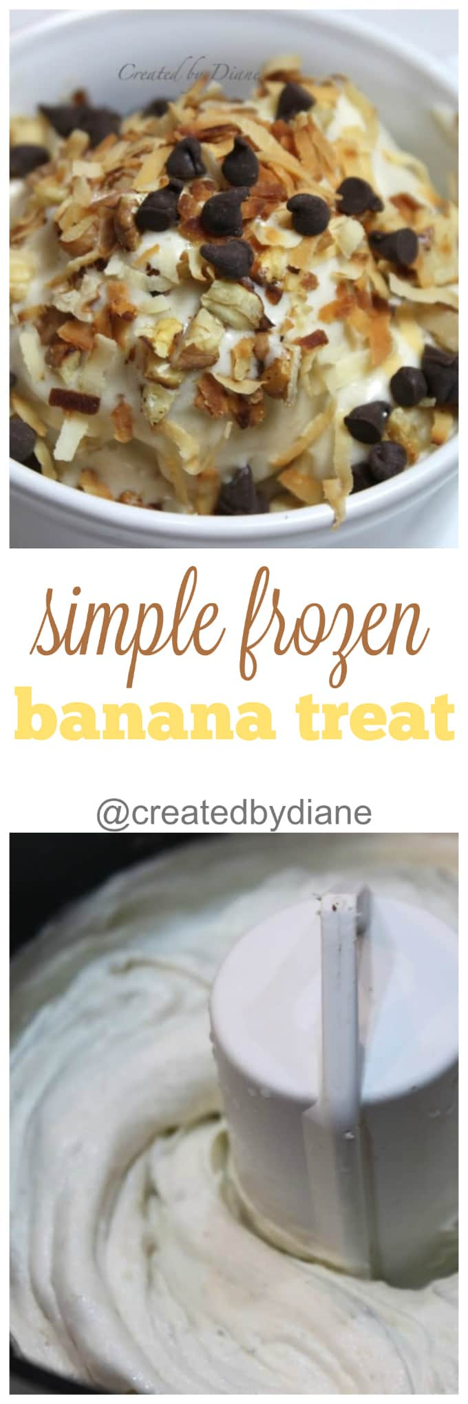simple frozen banana treat from @createdbydiane