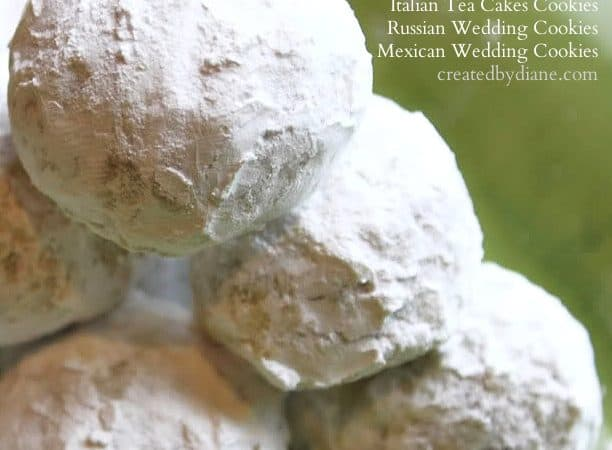 snowball cookies, Italian Tea Cakes, mexican wedding cookies @createdbydiane