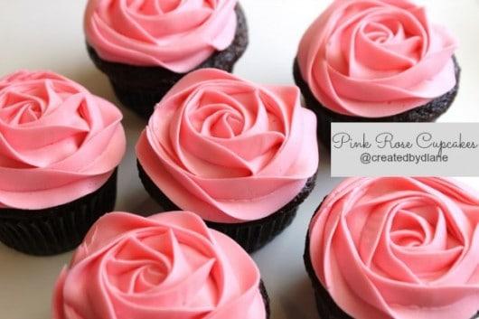 Pink Rose Cupcakes @createdbydiane