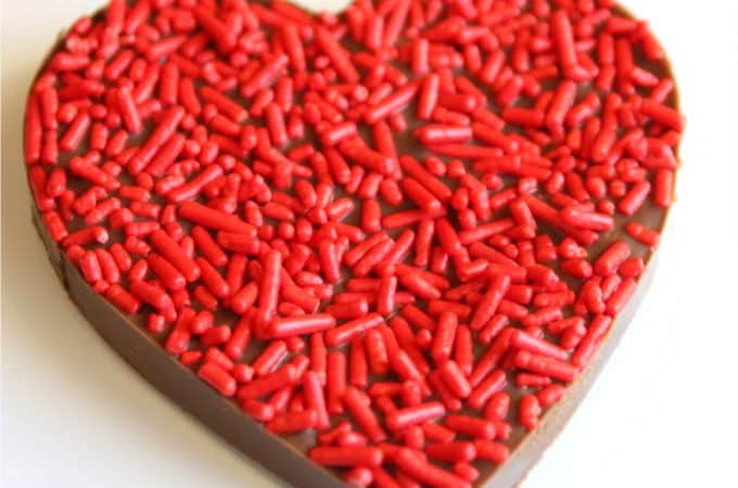 Chocolate peanutbutter heart