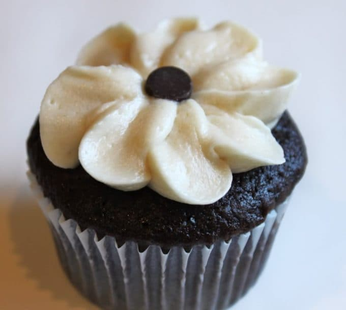 chocolate cupcake with VanillaCookedfrosting