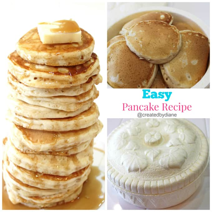 easy fluffy pancake recipe @createdbydiane