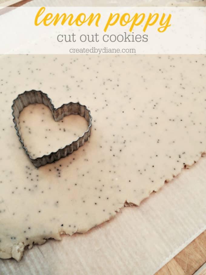 lemon poppy cut out cookies createdbydiane.com