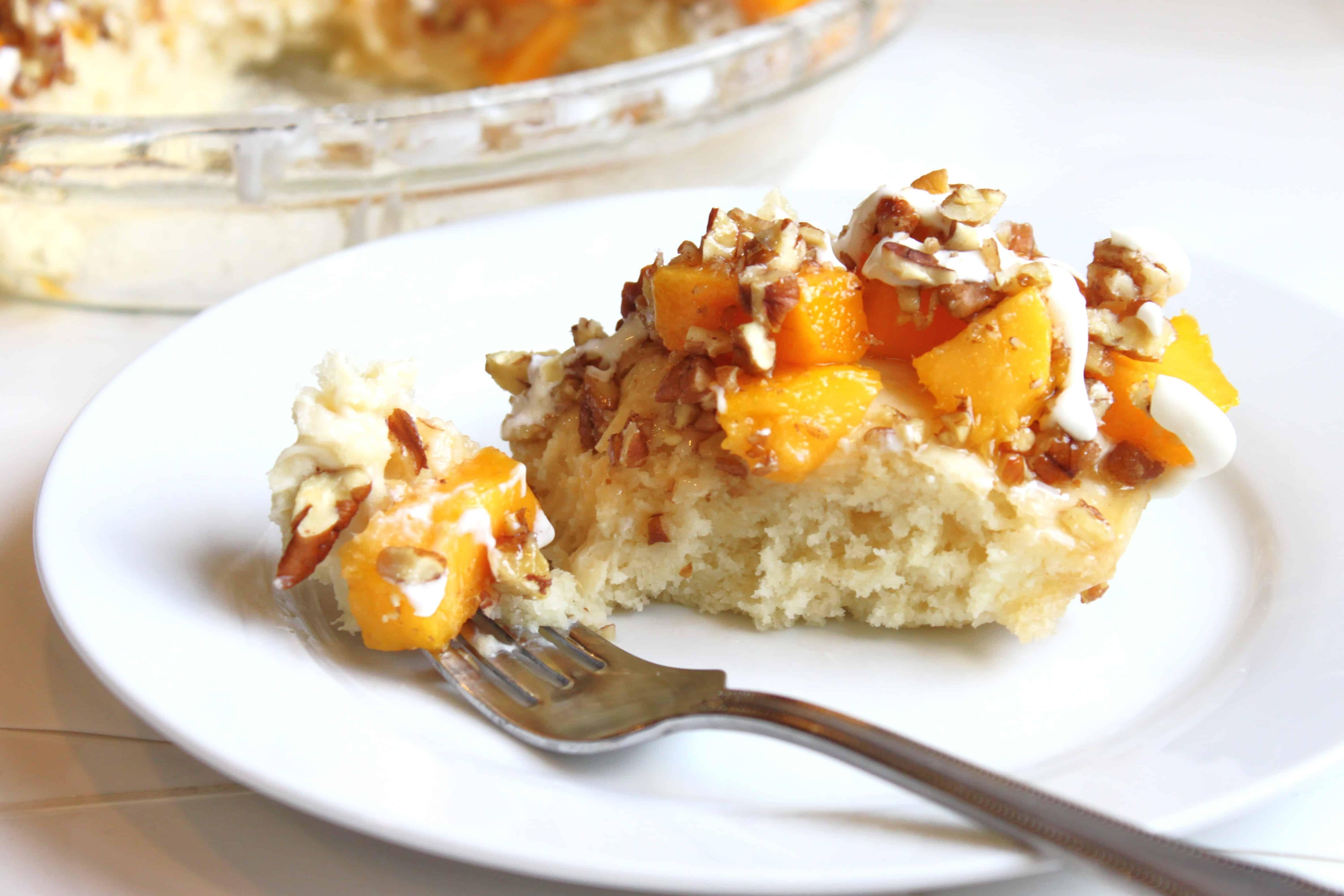 Mango Pecan Pancake Pie