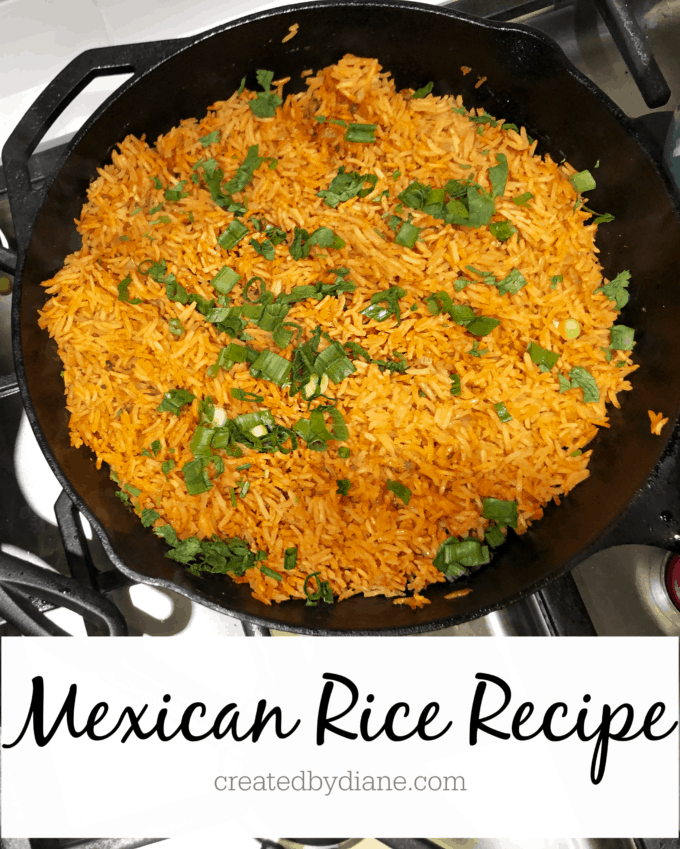 Mexican Rice Recipe createdbydiane.com