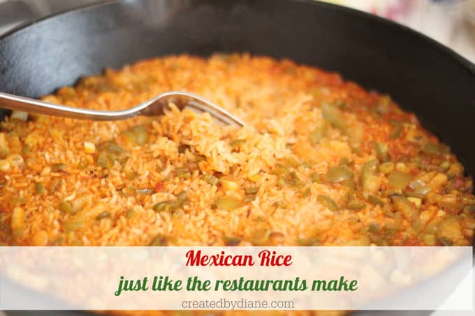 mexican rice recipe just like the restaurants make createdbydiane.com