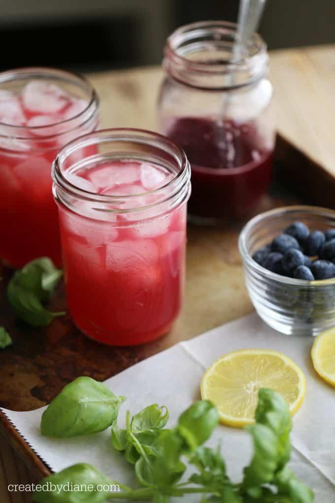 how to make blueberry basil lemonade recipe createdbydiane.com