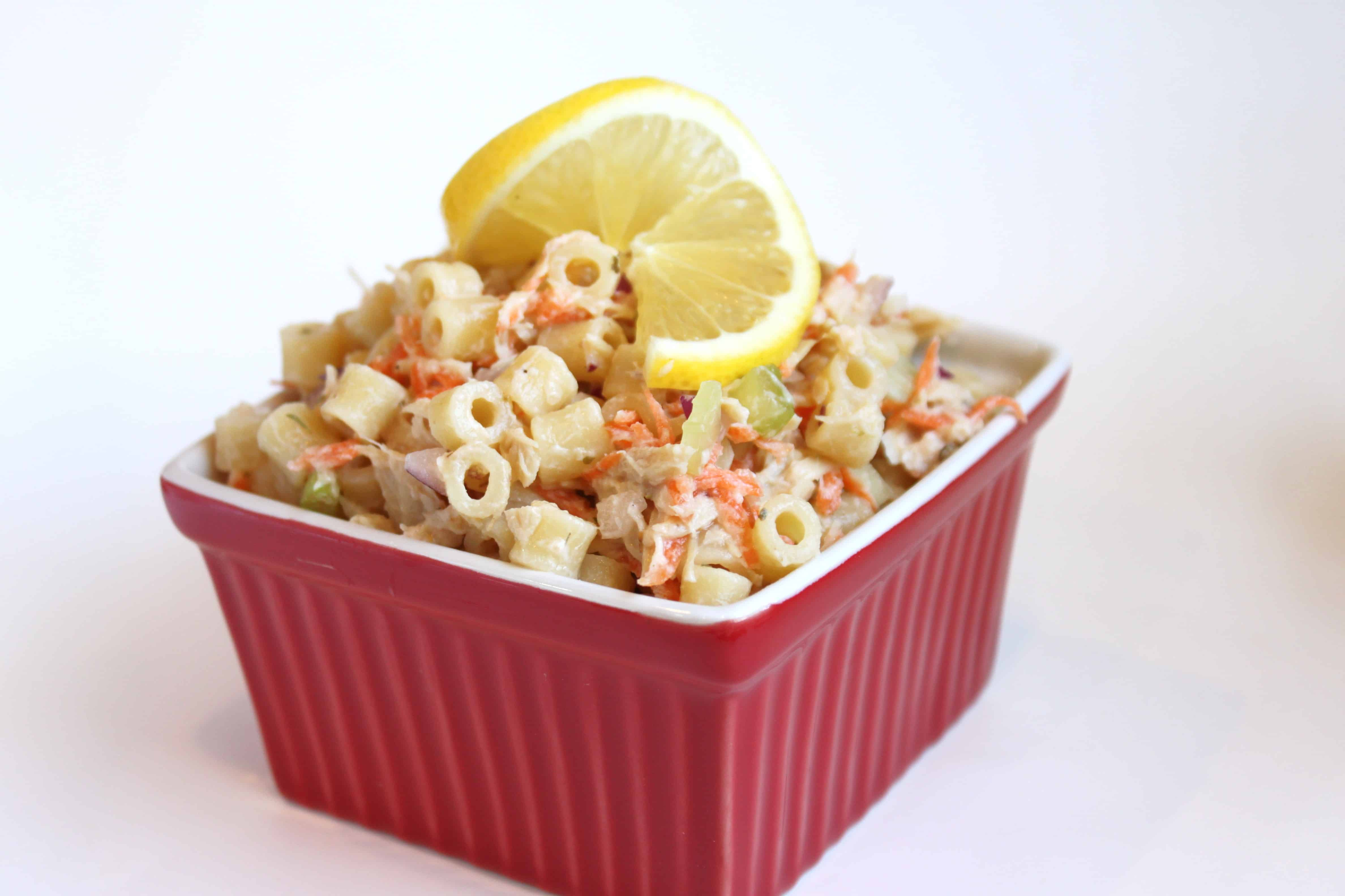 lemon-tuna-pasta-salad-no mayo