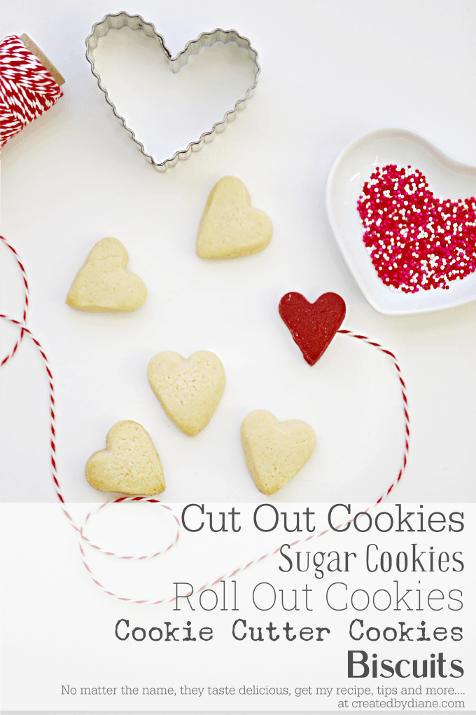 CUT OUT COOKIES, recipes and more at createdbydiane.com