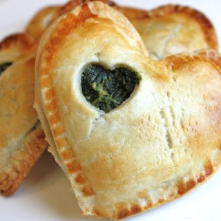 Mini Savory Pies with Spinach and Goat Cheese