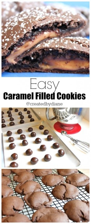 Easy caramel Filled Cookies @createdbydiane