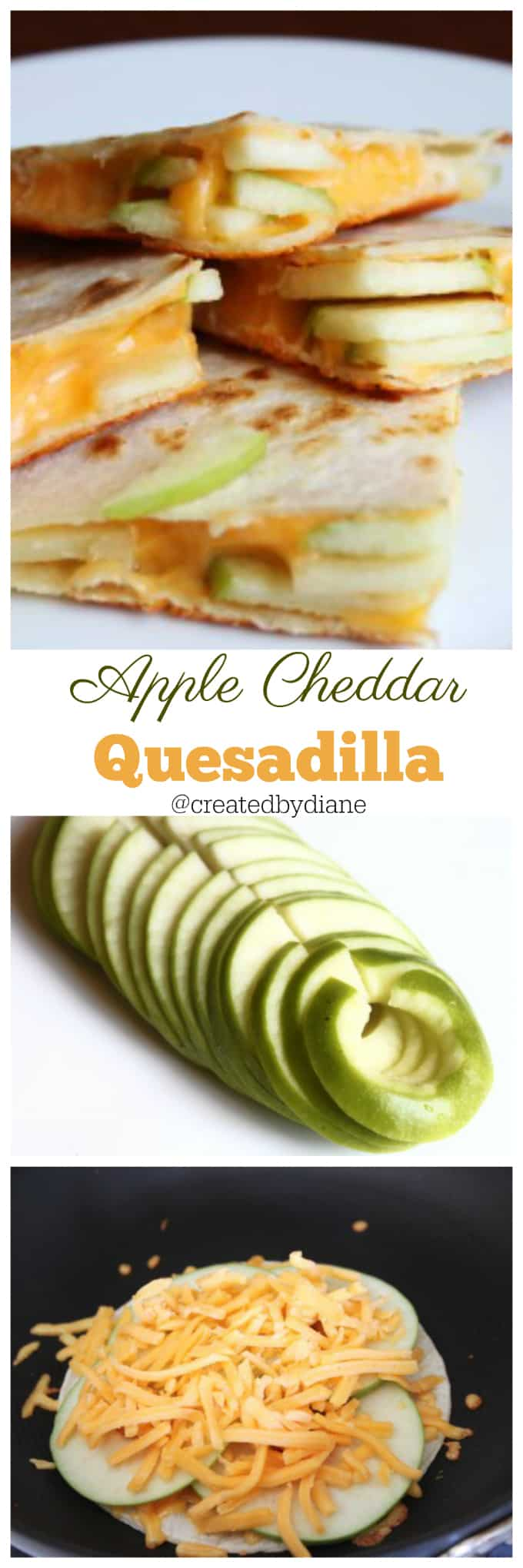 apple cheddar quesadilla @createdbydiane