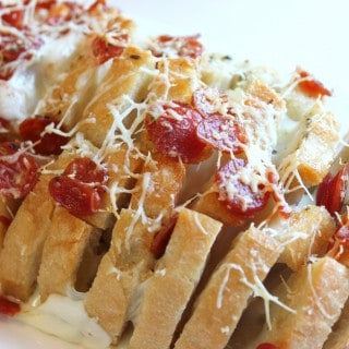Appetizers and Pull Apart Pepperoni Pizza Bread