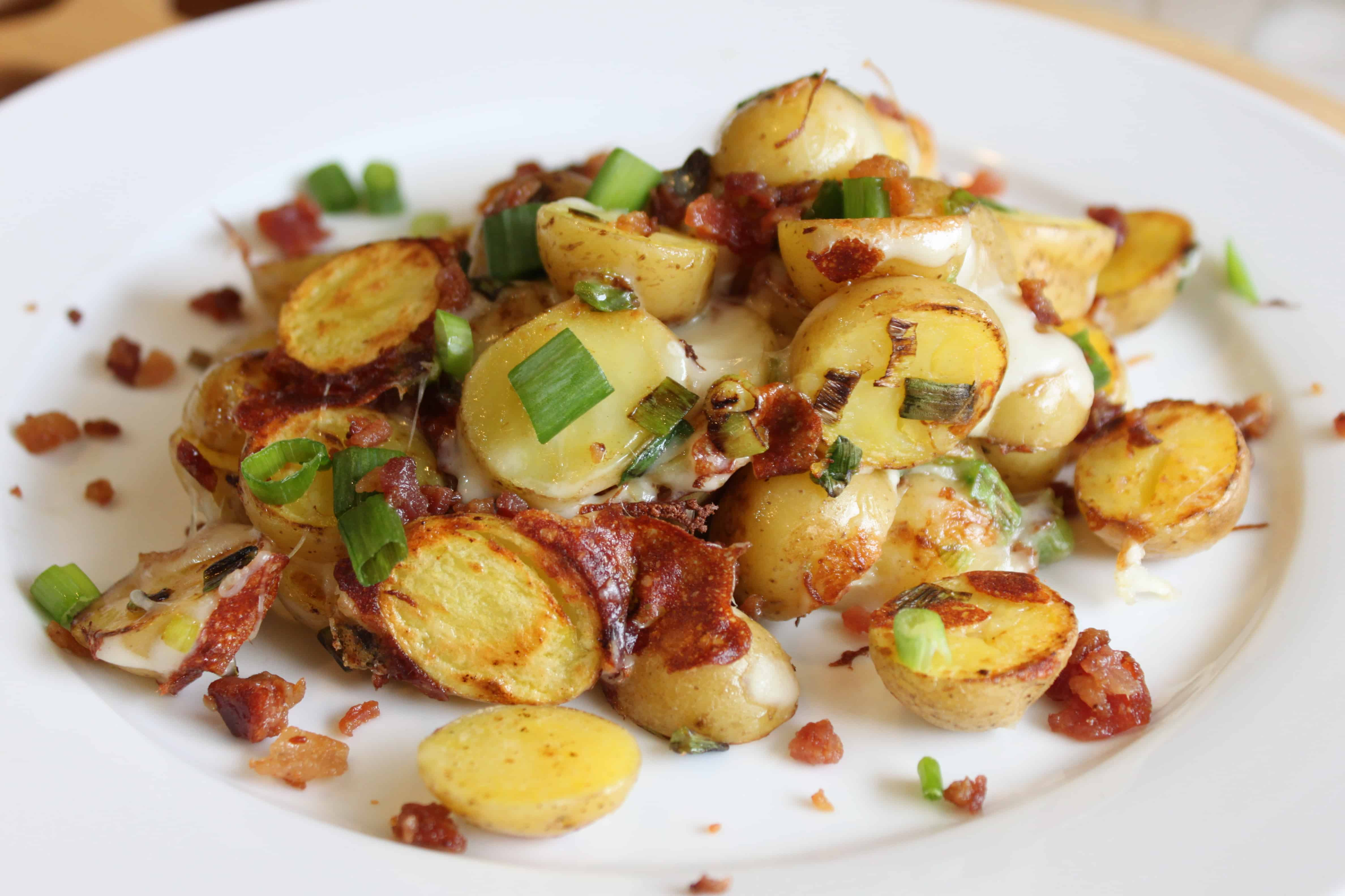 Cheesy, Bacon, Breakfast Potatoes in 5 minutes | Created by Diane