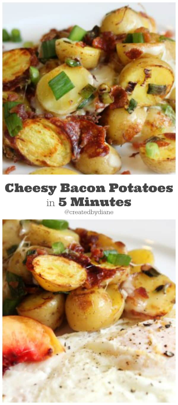 Cheesy Bacon Potatoes in 5 minutes @createdbydiane