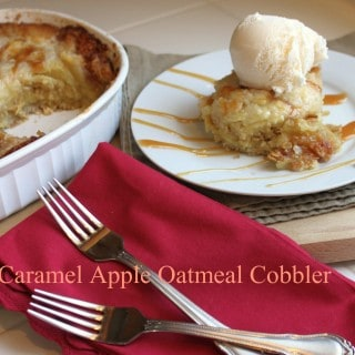 Caramel Apple Oatmeal Cobbler